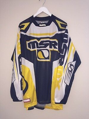 MSR BMX Motocross Racing Jersey Shirt Hip Hop Men's Large