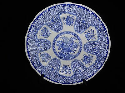 "The SPODE Blue Room Collection Filigree Made in England 9.25"" Plate"