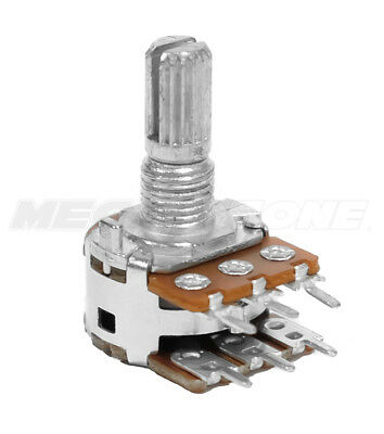 A100K Ohm Audio Dual Gang Potentiometer PCB-Mount 16mm Alpha Brand. USA Seller!