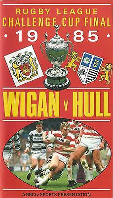 1985 RUGBY LEAGUE CHALLENGE CUP FINAL. WIGAN v HULL. VHS BBC SPORTS VIDEO TAPE