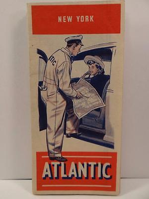 The Atlantic Refining Co New York Folded Map 1940s Book1sec1