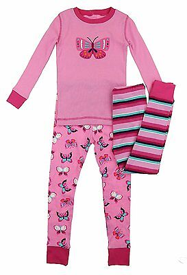 NEW Kirkland Girls 3 Piece Cotton Pajama Set