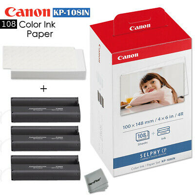108 Color Ink Paper - Canon KP-108IN sheets for Canon Selphy CP910