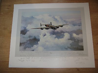 HALIFAX by ROBERT TAYLOR MULTI-VETERAN SIGNED