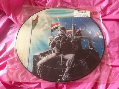 "Orig. 1984 Picture Disc Iron Maiden 2 Minutes To Midnight UK 12"" LP EMIP 5489"