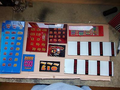 selection of old Fruit Machine DECALS