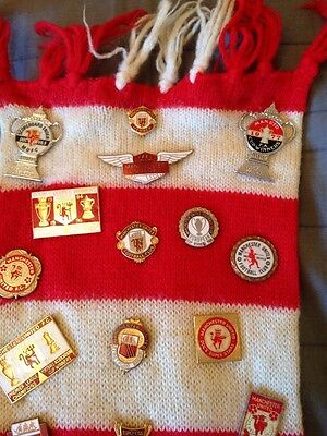 87 (Eighty Seven) Manchester United Pin Badges 1970's - 1990's