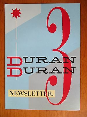Duran Duran 3rd Official Fan Club Newsletter & Bonus Letter 1982