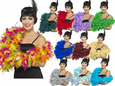 Deluxe Feather Boa Flapper Burlesque Accessory 180cm Long 80G Fancy Dress