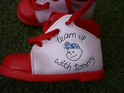VINTAGE BABY BOY TEAM UP WITH TOMMY 18 size 2 , ABC, UNITED KINGDOM BOOTS LACE