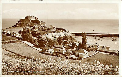 Mont Orgueil Castle,Jersey 130(Real Photograph)Good Franking- Jersey 1956