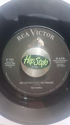 Ted Harris 45 Re - Just Thought I'd Set You Straight-Top Rca 1958 Jiver Club Hit