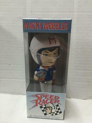 "Funko Wacky Wobbler Head 7"" SPEED RACER Mach 5 Bobblehead MIB Vintage pop"