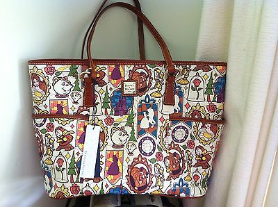 NWT Disney Dooney And Bourke Beauty And The Beast Tote