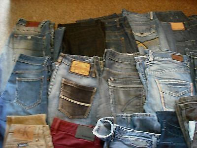 Mens Clothes, Joblot 66 Pairs Designer & Branded Jeans - casual & Formal Trouser