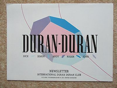 Duran Duran Official Fan Club Newsletter 1985
