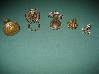 Antique Victorian Old Drawer Pulls Handles lot of 5
