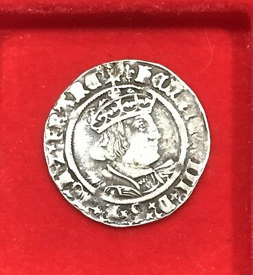 Collectible Henry 8th groat mint mark lis