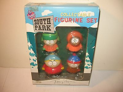 "SOUTH PARK COLLECTIBLE FIGURINE SET '98 autographed CREATOR ""TREY PARKER"""