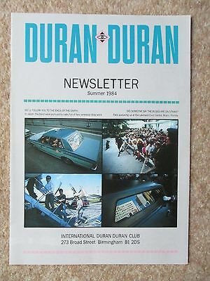 Duran Duran Official Fan Club Newsletter Summer 1984