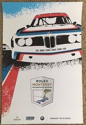 2016 Rolex Reunion BMW 100th Year Celebration Poster