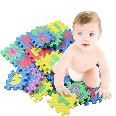 36PCS Baby Kids Soft Play Mat Set Alphabet Numerals Educational Puzzle Toy Floor