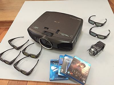 Epson 1080p 3D HOME CINEMA PROJECTOR - PLUS EXTRAS - EH-TW9000 TRI-LCD Projector