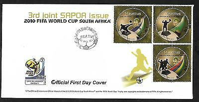 2010 Fifa World Cup South Africa(Gold Foil) Fdc, Leaflet. Unaddress.mint
