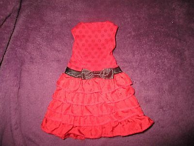 """Design a friend doll clothes red dress for an 18"""" tall doll"""