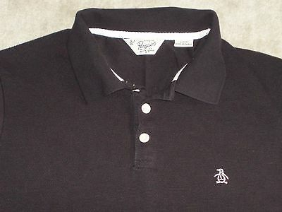 Penguin Men's Black Polo - Size L