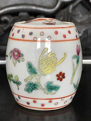ANTIQUE CHINESE EXPORT PORCELAIN Tea Candy FAMILLE ROSE