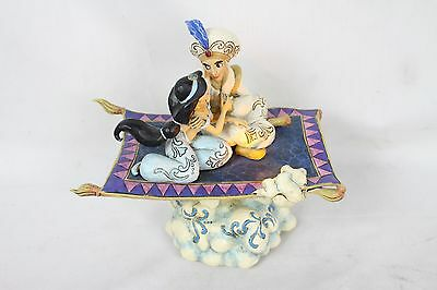 "Jim Shore Disney Traditions ""Magic Carpet Ride"" Aladdin Jasmine Music Light-up"