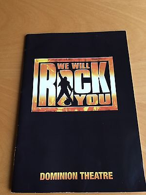 We Will Rock You Programme Theatre / Musical   - Queen