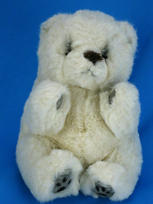 Yomiko Cream White Polar Bear Plush Stuffed Plush Animal Realistic Russ Vintage