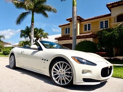 2012 Maserati Gran Turismo Sport Convertible 2-Door ONLY 14k MILES Clean CARFAX One Owner Florida Owned Immaculate!!!!