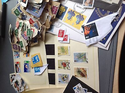1.34 KG  GB Charity Kiloware Stamps,  - Good Variety of Stamps including better@