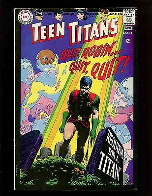 Teen Titans #14 VGFN Cardy Gargoyle Robin Wonder Girl Aqualad Kid Flash