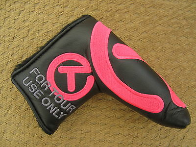 Scotty Cameron Tour Only Black & PINK Industrial Circle T Headcover - NEW!
