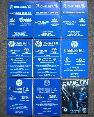 CHELSEA FC Football Fixture List Cards COLLECTION Blues MEMORABILIA Rare