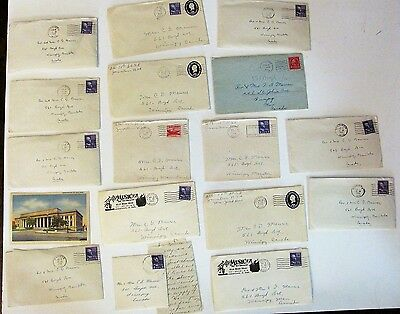 Lot 17 Letters Ephemera Wallace Maurer Graf Family Early 1950s from Grad School