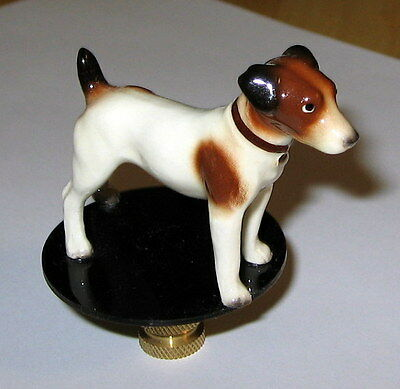 Jack Russell Lamp Finial, lamp topper, new, porcelain
