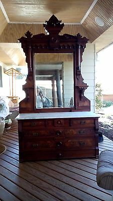 Victorian Antique Marble top dresser and mirror. Price reduced to sell Buy Now!