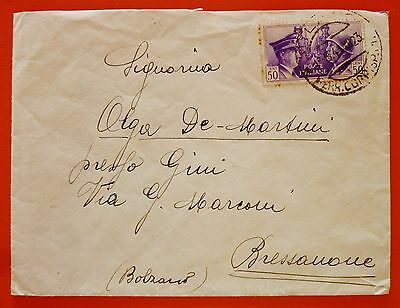 Italy Kingdom 1941 Cover from Milano - 50 cents Hitler/Mussolini stamp N. 455