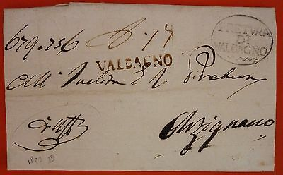 Italy 1823 Prephilatelic Letter from Valdagno to Arzignano - Black Linear