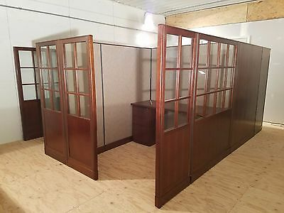 "Haworth 5' x 6'  Cubicles unit of 4 total size about 134"" x 148"""