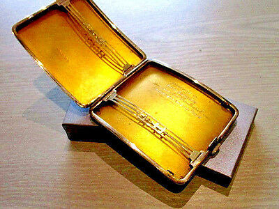 Vintage Heavy 138g Sterling Silver Curved Cigarette Case Hallmarked 1931