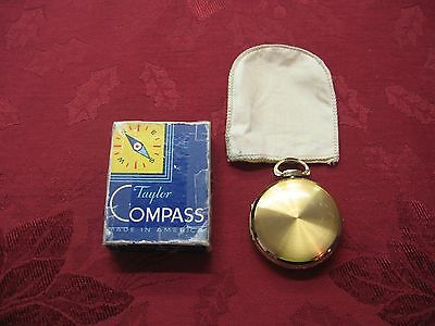 Antique 1930'S Taylor Gydawl Hunter Pocket Case Compass No. 2930  W/orig Box