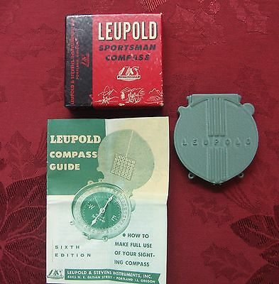 Vintage Leupold Sportsman Compass W/orig Box & Papers