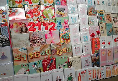 1000 Top Quality Mixed Birthday & Greeting Wholesale Joblot Cards