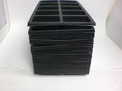 Used!!! 29 Black Insert Tray Liners w/10 Compartments Drawer Organizer Plastic